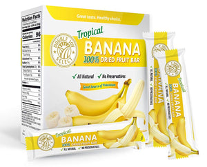 100% Dried Banana Fruit Bar and nothing else! Healthy - Delicious and Nutritious.
