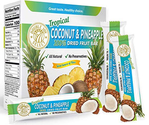 100% Dried Coconut Pineapple Fruit Bar and nothing else! Healthy - Delicious and Nutritious.