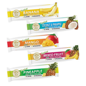 100% Dried Fruit Bar Sample Pack Healthy - Delicious and Nutritious.