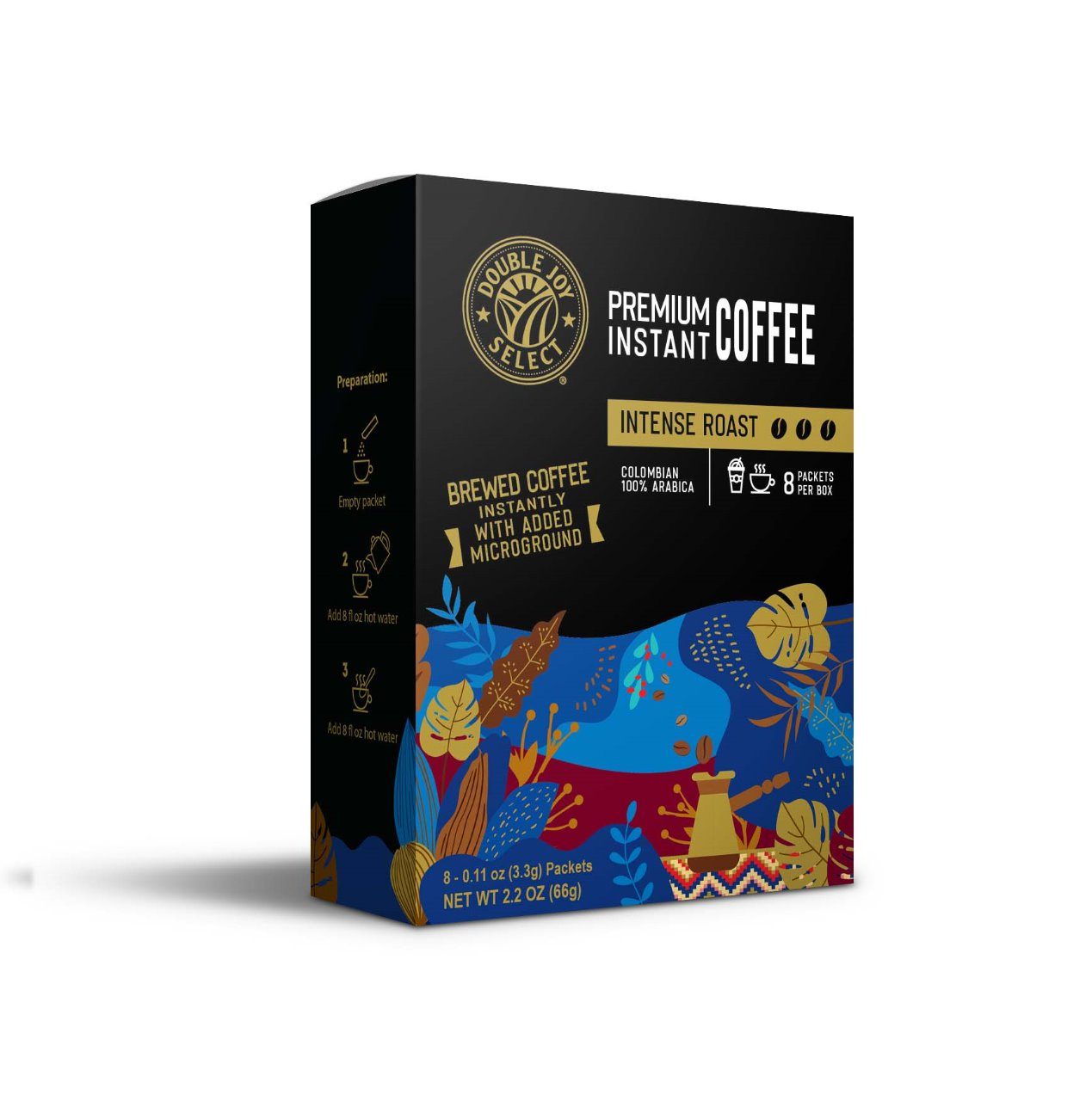 Intense Dark Roast Instant Coffee - 20 Packets - FREE SHIPPING!