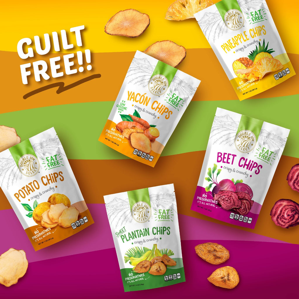 Baked Chips Sample Pack . Fat Free and Vegan - 1oz bags **5 pack 1 of each flavor**