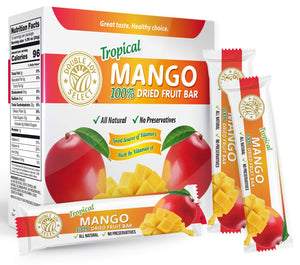 100% Dried Mango Fruit Bar and nothing else! Healthy - Delicious and Nutritious.