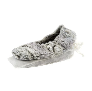 EUCALYPTUS SILVER FOX FAUX FUR SPA FOOTIES