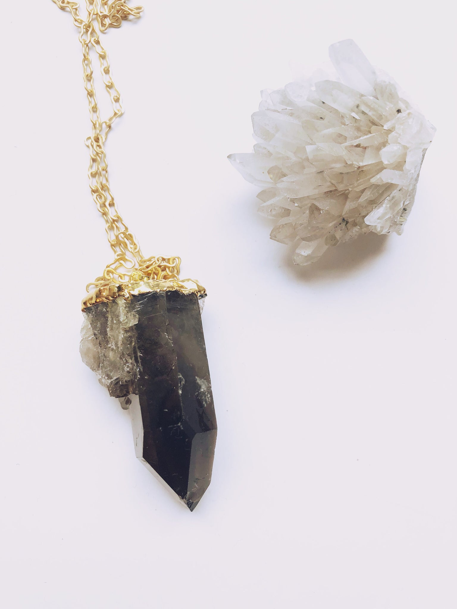 Smoky Quartz Point Necklace