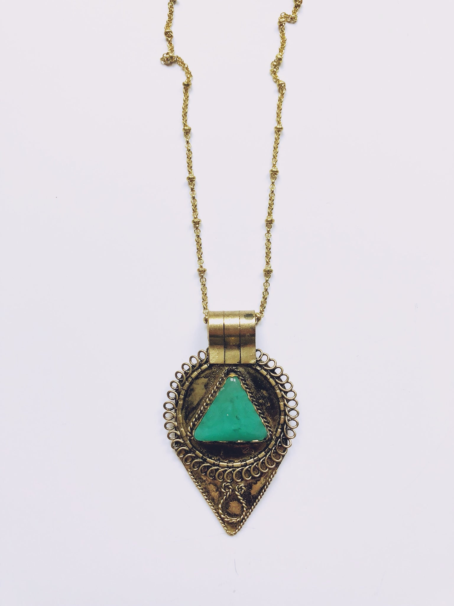 Tibetan Brass Necklace