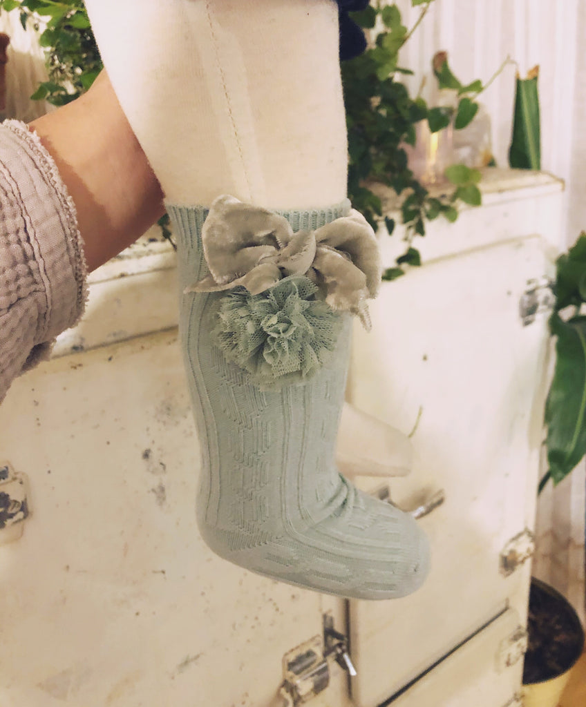 {Preorder} Dottie Pom Knee-High Socks