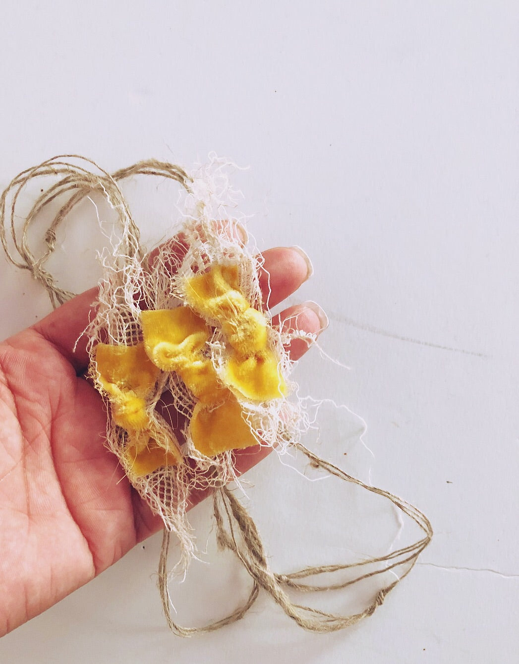 Sunflower Plush Velvet Knot Bow
