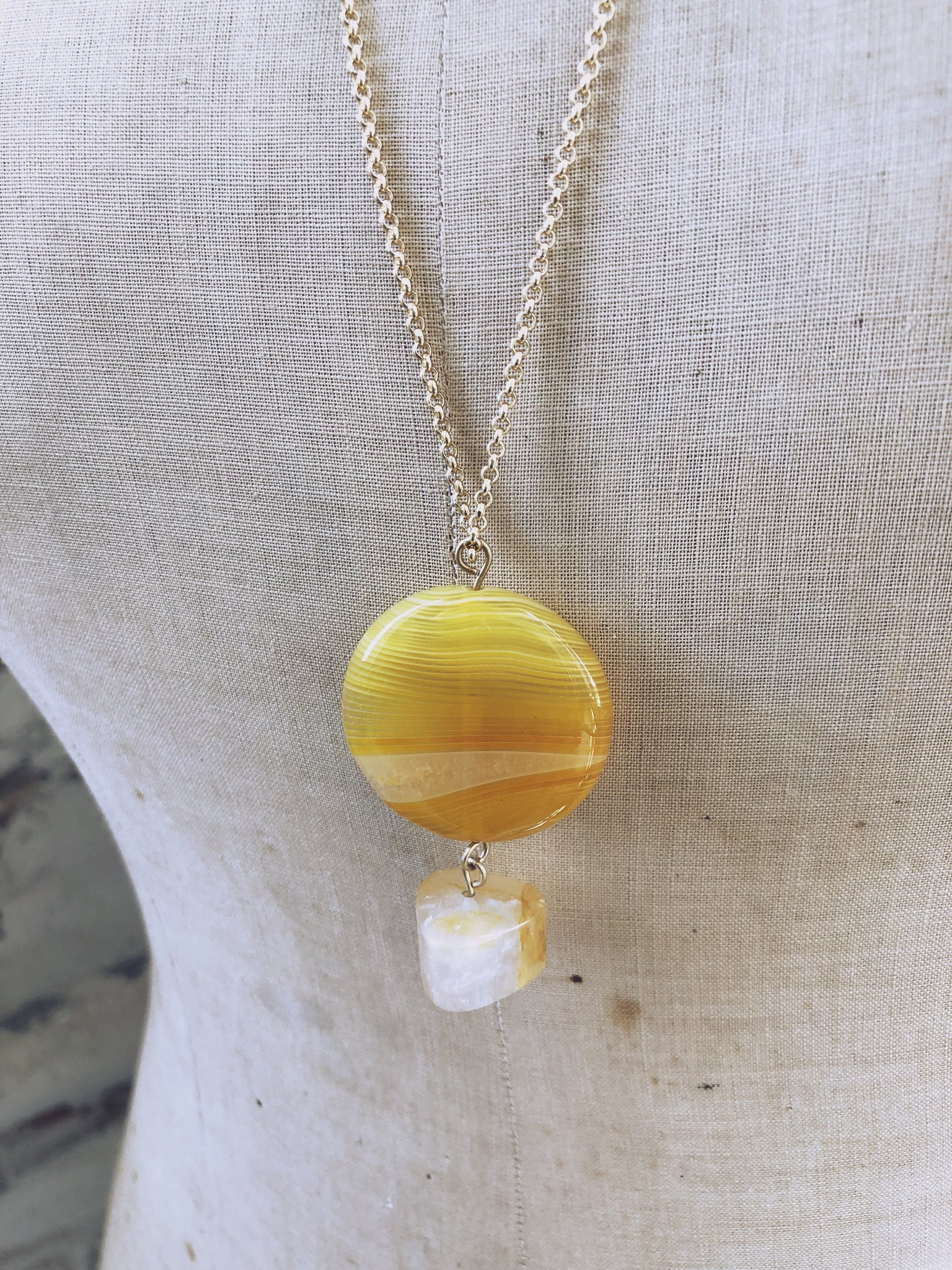 Sunshine Agate Necklace