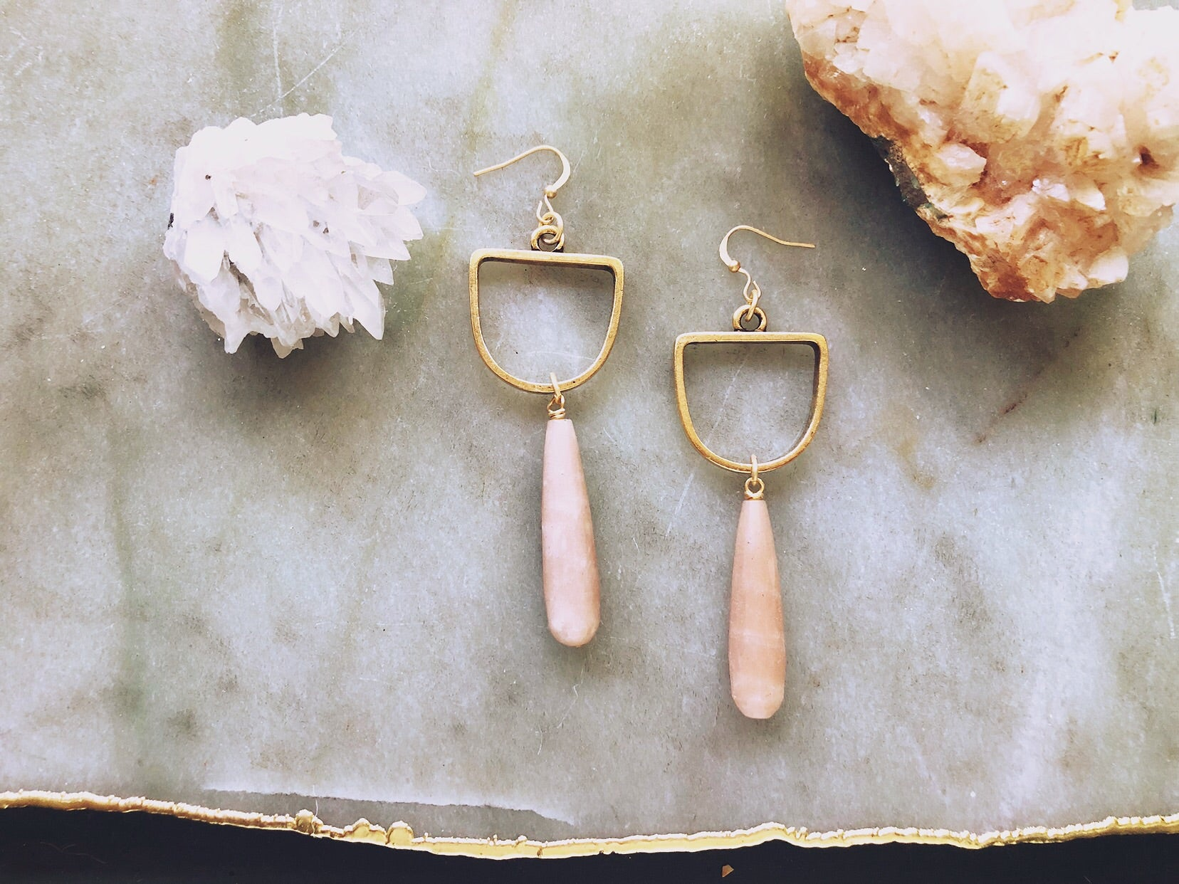 Sunstone Drop Earrings