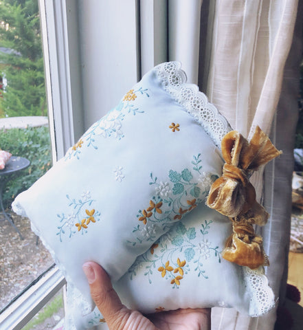 Little Embroidered Pillow