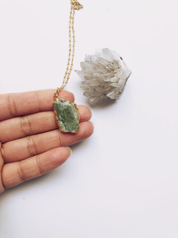 Dainty Green Kyanite Necklace