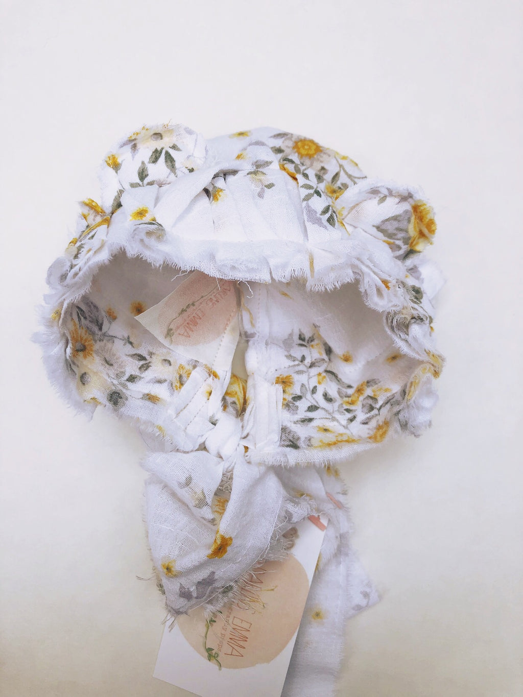 Yellow Floral Bonnet