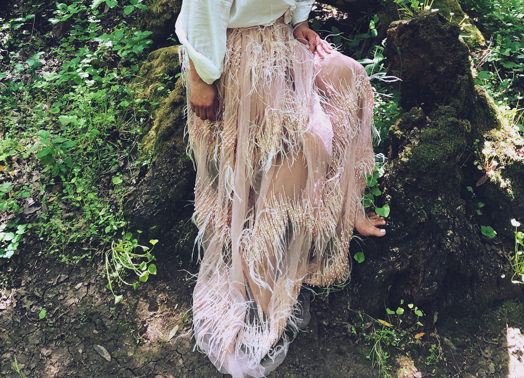 Cambria Feather Skirt