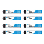 BETAFPV 300mAh 1S 30C HV Set Of 8 LiPo Batteries
