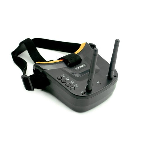 FCModel Mini FPV Goggles 480x320px with 5.8G 40ch Receiver Dual Antenna Built-in Battery