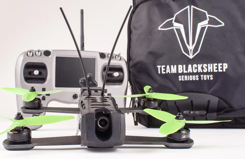Team Black Sheep Vendetta Ready To Fly Bundle With Backpack, Charger, & Tango FPV Remote Control