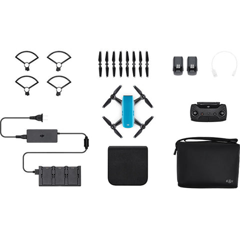 DJI Spark Mini Drone - Fly More Combo With Remote & Accessories - Sky Blue