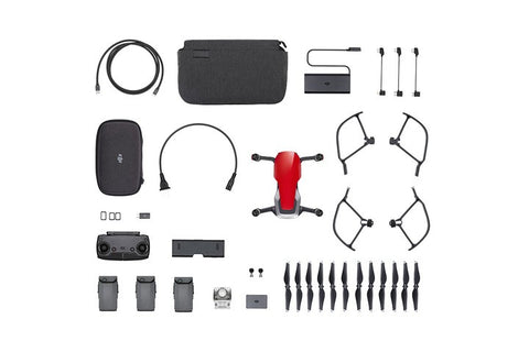 DJI Mavic Air 4K Quadcopter Fly More Combo - Flame Red