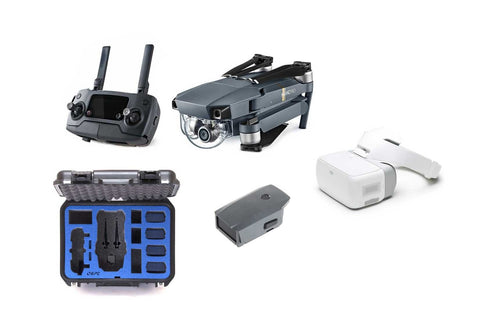 DJI Mavic Pro Bundle With Extra Battery, DJI Goggles, and Go Professional Case