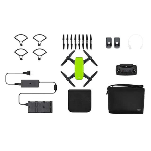 DJI Spark Mini Drone - Fly More Combo With Remote & Accessories - Meadow Green