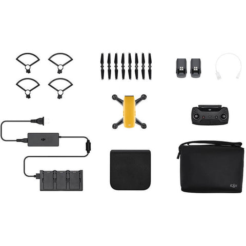 DJI Spark Mini Drone - Fly More Combo With Remote & Accessories - Sunrise Yellow