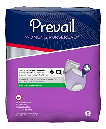 Prevail WOMEN'S PURSEREADY® UNDERWEAR Size Small/Medium – (PRU-512) pack of 10pcs