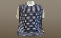 Brolly Sheets Waterproof Patterned Bib (Blue White Polka Dot))