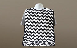 Brolly Sheets Waterproof Patterned Bib (Black Chevron)