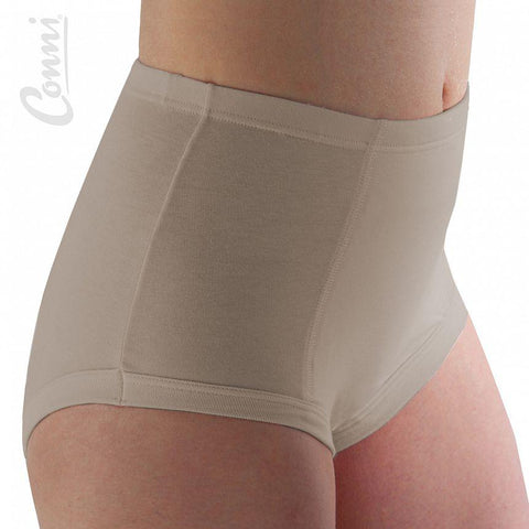 Conni Ladies Classic Brief  Absorbent Undergarment Beige- Size 14