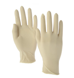 Disposable Gloves - Latex (Cream Color ) Pack of 10