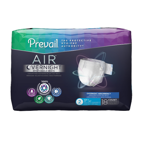 PREVAIL AIR™Overnight Adult Briefs Size 3/XLarge-Pack of 15s (NGX-014)