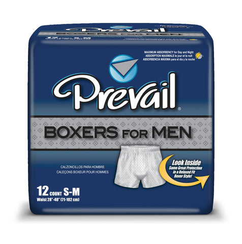 Prevail Boxers for Men Size S-M (PACK OF 12) PBM-512