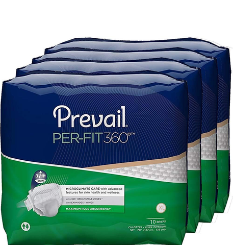PREVAIL® PER-FIT360°Adult Briefs size X-Large Pack of 10 pcs (PFNG-014)