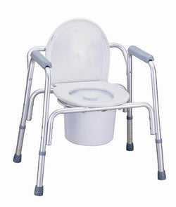 Deluxe 3-in-1 Aluminium­ Frame Multifunction Commode