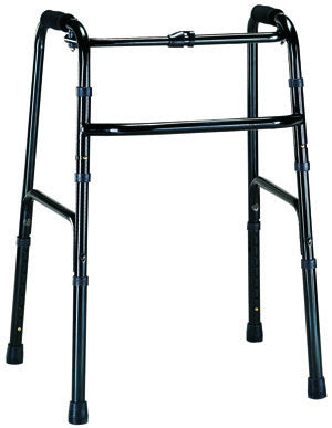 1-Button Folding Walker - Black