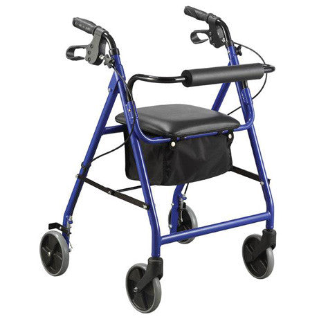 Four Wheel Rollator - Blue
