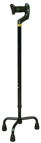 Aluminium Orthopaedic Quad Cane ( Black)- Small Base (SCC040)