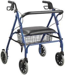 Four Wheel Rollator - *Wide* - Blue *PICK UP FROM MT WELLINGTON ONLY*