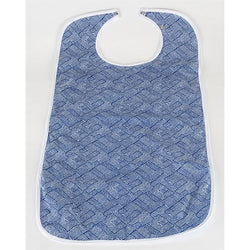 Brolly Sheets Waterproof Adult Bib - Large - Blue Geometric