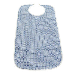 Brolly Sheets Waterproof Adult Bib - Large - Blue Squares