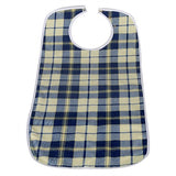 Brolly Sheets Waterproof Adult Bib - Large - Navy Tartan