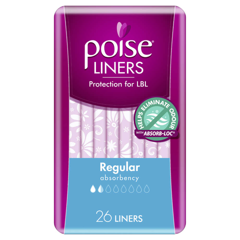 Poise Regular Liners 26 Pack
