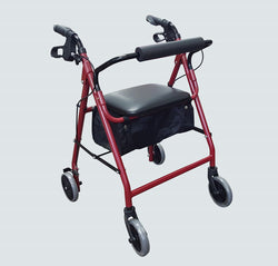 Four Wheel Rollator - Red