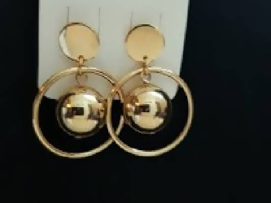 Ethnic Gold color Chandbali Earrings
