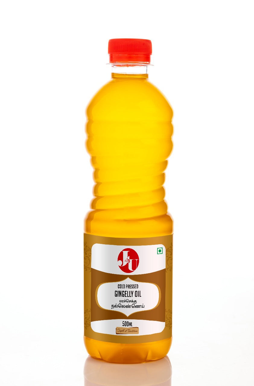 J4U Cold Pressed Gingelly Oil 500 ml