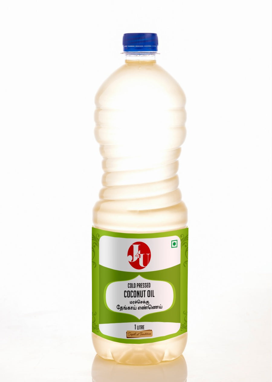 J4U Cold Pressed Coconut Oil 1 Lt