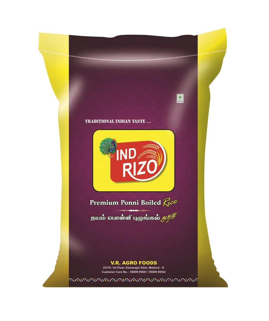Indrizo Boiled Rice Pack of 25 kg