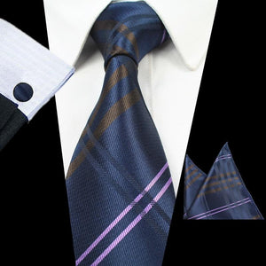 NT102 Erizman London Necktie + Cufflink + Pocket Square Set
