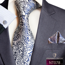 Load image into Gallery viewer, NT078 Erizman London Necktie Set