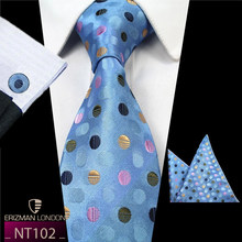 Load image into Gallery viewer, NT102 Erizman London Necktie + Cufflink + Pocket Square Set